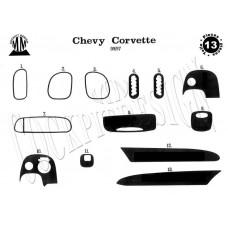 Chevrolet Corvette Maun Kaplama 1997 üzeri 13 Parça